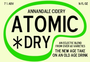 Annandale Cidery's Atomic Dry label
